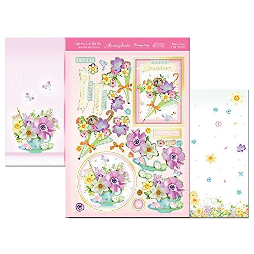 hunkydoryspring is in air designer decoupage set happy easter & tea anyone - hanrattycraftsgifts.co.uk