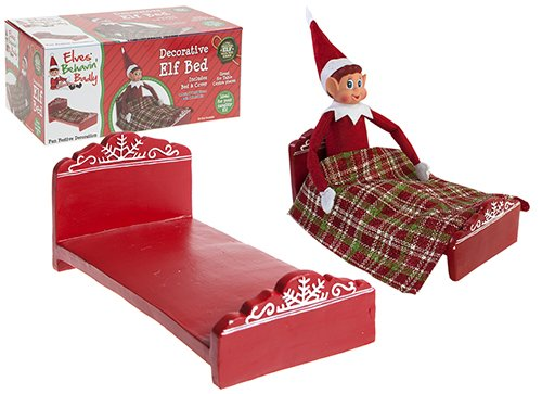 Naughty Elf Bed - With Bed & Cover - Great For Table Centre Pieces - Ideal For Your Naughty Elf - hanrattycraftsgifts.co.uk