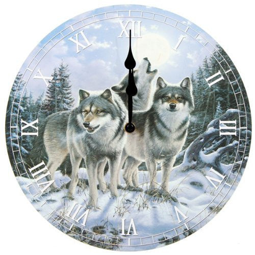 Picture Clock - Midnight Watcher - - hanrattycraftsgifts.co.uk
