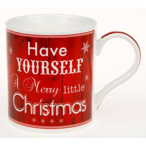 Vintage Lane - Have Yourself A Merry Little Christmas - Festive Mug with Gift Box - hanrattycraftsgifts.co.uk