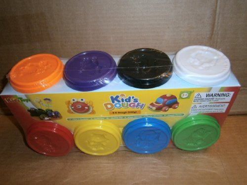 kids dough 8x 140g assorted dough pots - hanrattycraftsgifts.co.uk