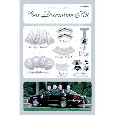 Amscan International Wedding Car Decorating Kit - hanrattycraftsgifts.co.uk