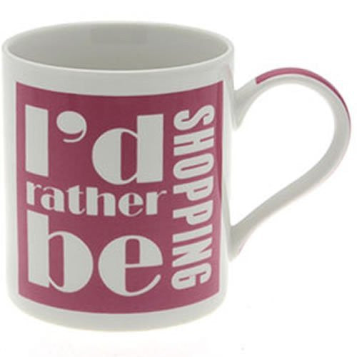 I'd Rather Be Drinking Shopping Gift Boxed Mug, Birthday, Christmas, Any Occasion Gift - hanrattycraftsgifts.co.uk
