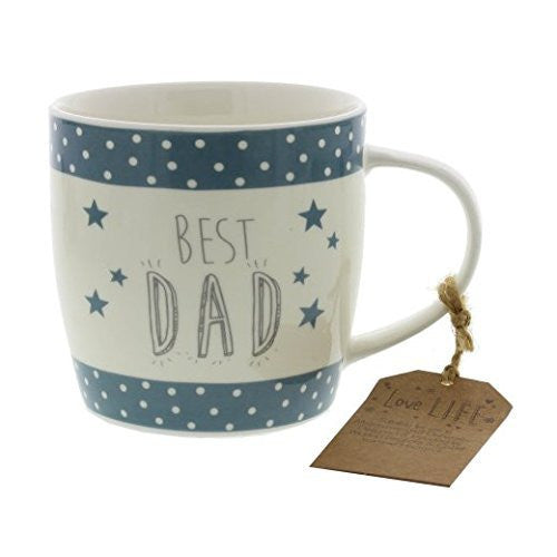Love Life Mug: Best Dad - hanrattycraftsgifts.co.uk