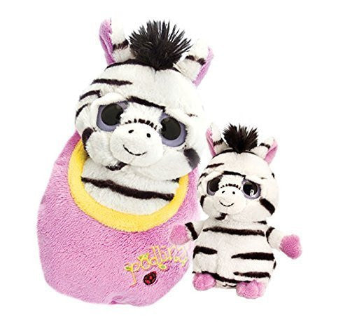 Keel Toys 18cm Podlings Zebra - hanrattycraftsgifts.co.uk