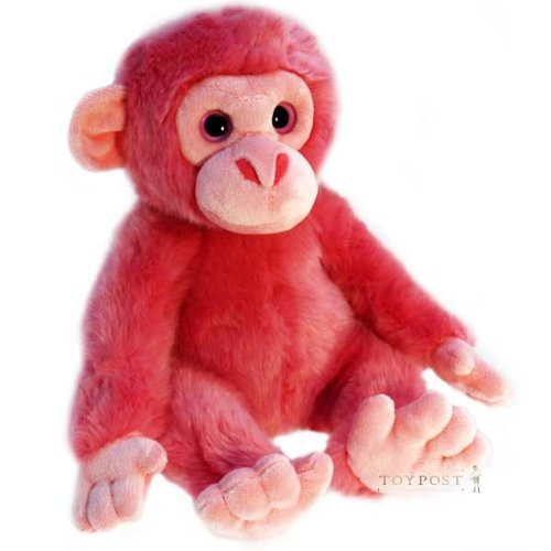Wild Pink Animals - Monkey, Bear, Elephant, Lion, Tiger or Giraffe (Monkey) - hanrattycraftsgifts.co.uk