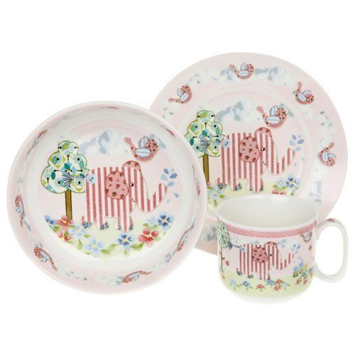 Lesser and Pavey 17cm Little Bird and Ellie Feeding Set, Pink - hanrattycraftsgifts.co.uk