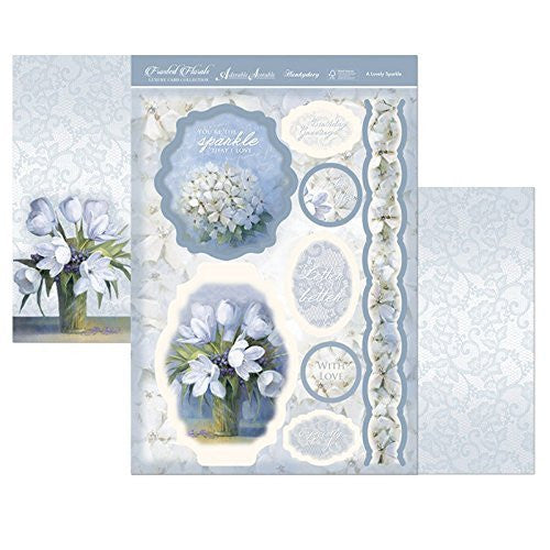 hunkydory frosted florals topper set a lovely sparkle