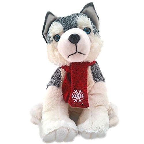 Keel Toys 35cm Husky With Scarf - hanrattycraftsgifts.co.uk