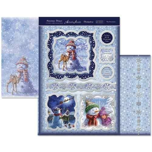 hunkydory  snowy days the snowman topper set - hanrattycraftsgifts.co.uk