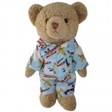 teddy bear with plane pyjama 30cm - hanrattycraftsgifts.co.uk