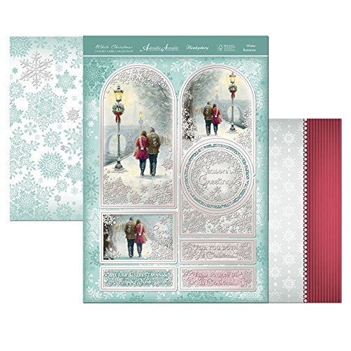 white christmas winter romance topper set