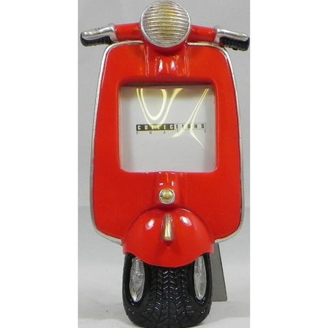 Vespa Scooter Photo Frame Red