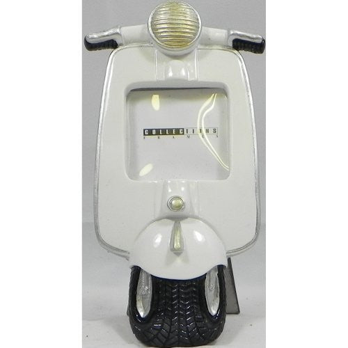 Vespa Scooter Photo Frame White