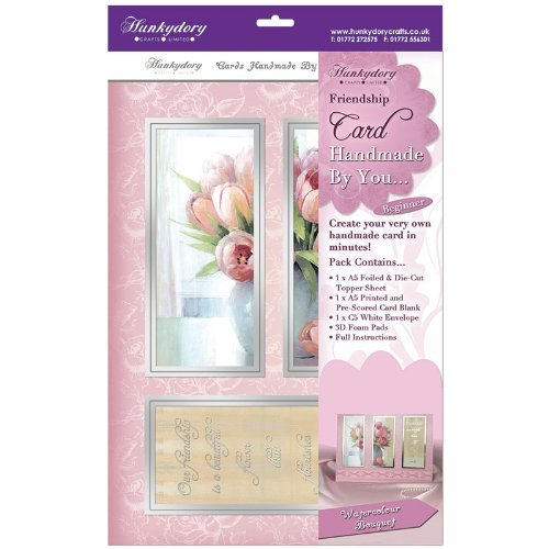 hunkydory handmade by you card kit watercolour bouquet freindship
