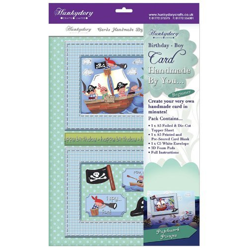 hunkydory handmade by you card kit patchwork pirates birthday-boy - hanrattycraftsgifts.co.uk