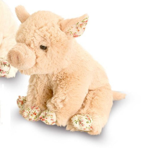 Belle Rose Pig 18cm soft toy - Honey Brown - Cute and Cuddly from Keel Toys - hanrattycraftsgifts.co.uk