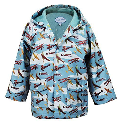 Raincoat - Vintage Airplanes - Powell Craft - 4-5 years - hanrattycraftsgifts.co.uk