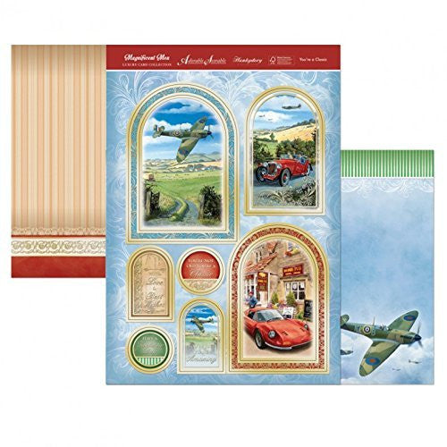 Hunkydory Magnificent Men OLD PLANE & CLASSIC CAR You're a classic TOPPERS & CARD