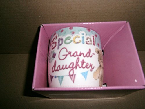 """Special Granddaughter"" Sentimental Cute Teddy Bear Mug with Presentation Box - hanrattycraftsgifts.co.uk"