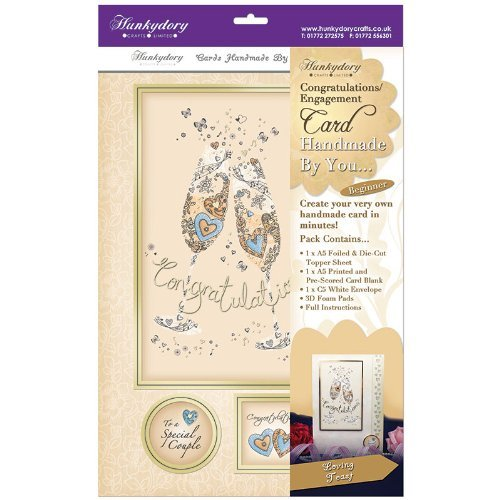 hunkydory handmade by you card kit loving toast congratulations/engagement