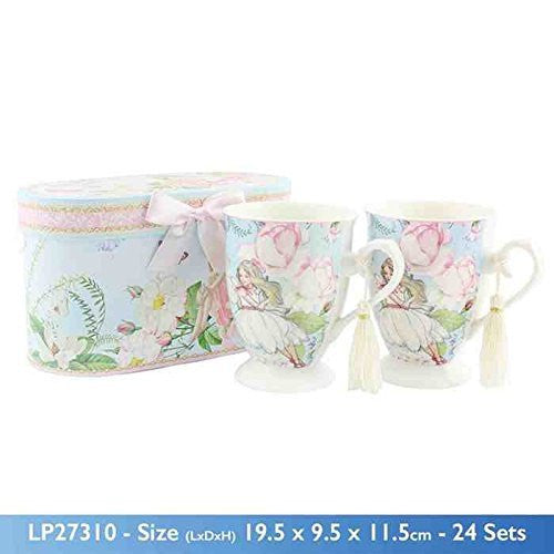 Leonardo Collection Fairy Dreams Royal Mugs, Set of 2, Multi-Colour - hanrattycraftsgifts.co.uk
