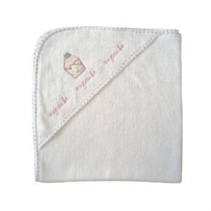Powell Craft Cupcake Baby Girls Hooded Towel - A great new baby gift!