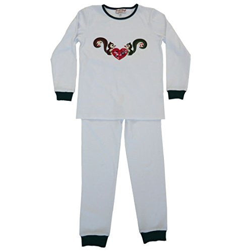 powell craft squirrel long sleeve pyjamas 2 - 3 yrs - hanrattycraftsgifts.co.uk