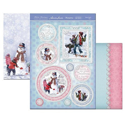 white christmas Snow Much Fun  topper set - hanrattycraftsgifts.co.uk