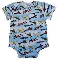 powell craft vintage plane babygrow handmade (12/18 momths) - hanrattycraftsgifts.co.uk