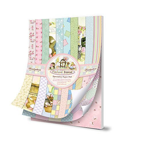 hunkydory return to patchwork forest speciality paper pad - hanrattycraftsgifts.co.uk