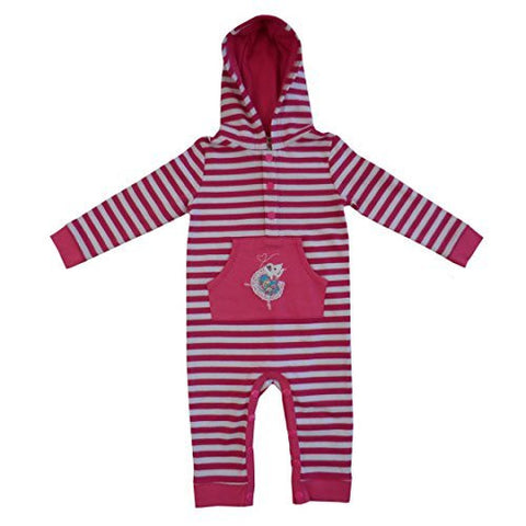 powell craft ballerina mouse strippy hooded jumpsuit 6 - 12 months