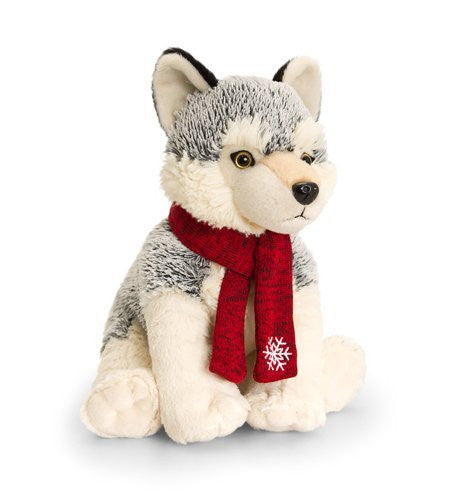 lkeel toys husky with scarf 25cm - hanrattycraftsgifts.co.uk