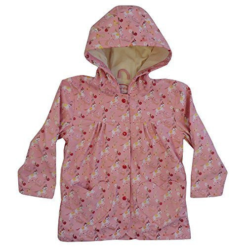 Powell Craft Girls Pony Print Raincoat.pink (2-3 years)