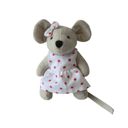 powell craft Mouse - Small Girl With Bow - 10cm - Powell Craft - hanrattycraftsgifts.co.uk