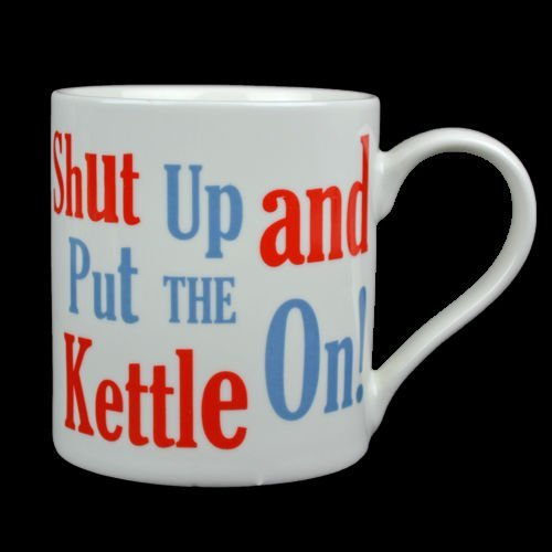 FUNNY MUG COFFEE CUP TEA MUGS GIFT NOVELTY SET HOME OFFICE NEW FINE CHINA RUDE (SHUT UP AND PUT THE KETTLE ON)