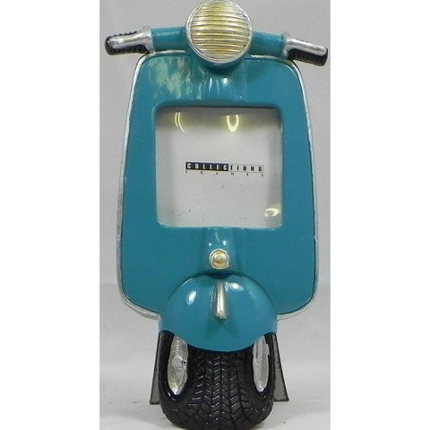 Vespa Scooter Photo Frame Blue
