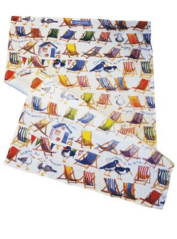 Emma Ball Coastal theme design tea towel - hanrattycraftsgifts.co.uk