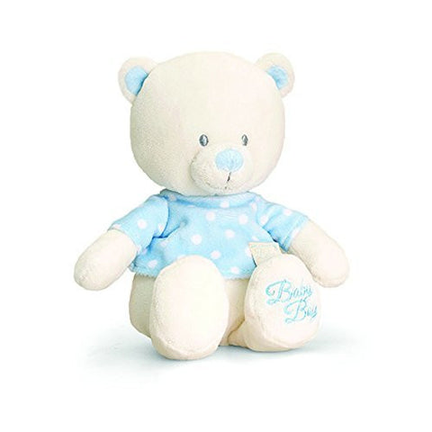 baby bear with tea shirt blue - hanrattycraftsgifts.co.uk