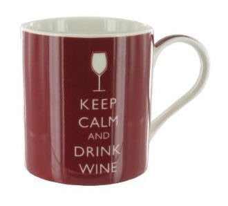 Keep Calm and Drink Wine Fine China Mug - Boxed mug - hanrattycraftsgifts.co.uk
