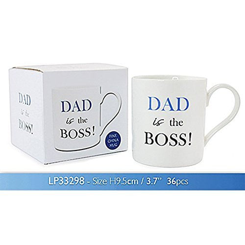 Dad The Boss Boxed Mug