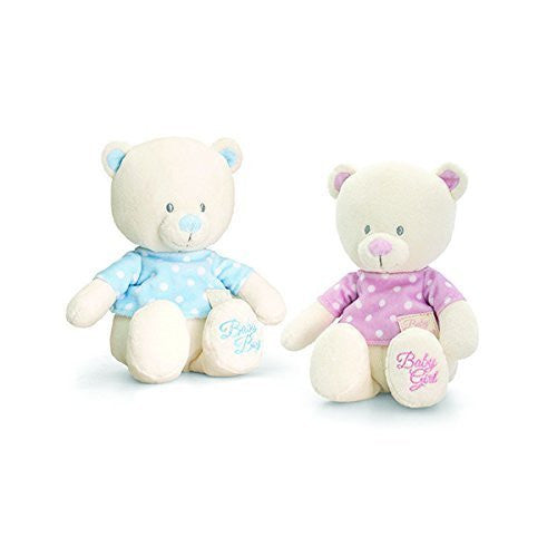 keel 17cm baby bear in tee shirt pink