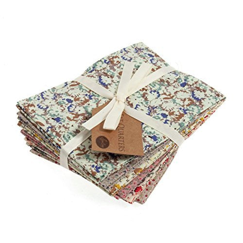 Fat Quarter Bundle: Cotton: 6 x 54cm x 45cm: Heirloom Floral