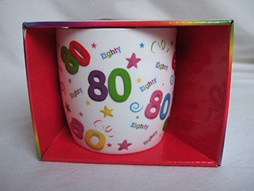 happy 80th birthday mug
