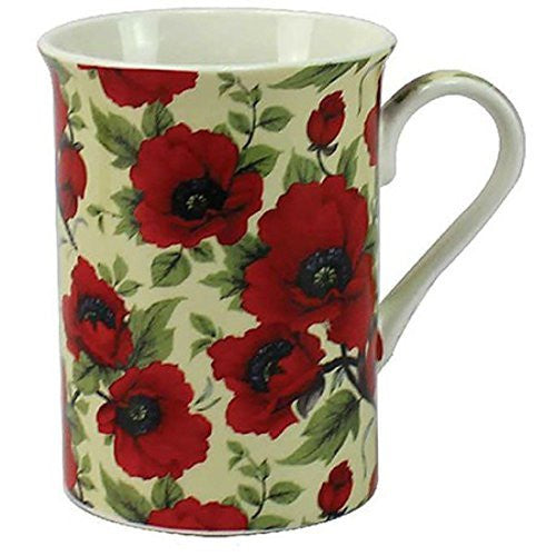 Leonardo Red Poppy Fine Bone China Mug LP92555 - hanrattycraftsgifts.co.uk