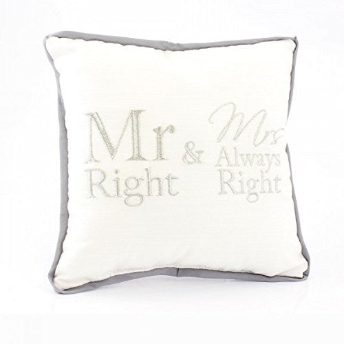 Mr Right & Mrs Always Right Mini Cushion Pillow Novelty Home Sofa. - hanrattycraftsgifts.co.uk