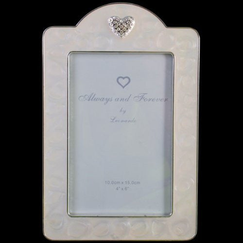 Leonardo Enamel and diamante heart frame 4×6 inch - hanrattycraftsgifts.co.uk