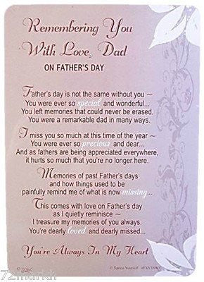 Xpress-vous Remembering You Dad Father's Day  card