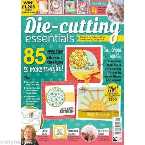 Die-cutting Essentials Magazine Issue 9 with Free Die & Bonus Embossing Folder - hanrattycraftsgifts.co.uk