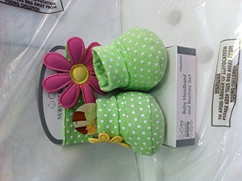 Newborn baby headband and booties set